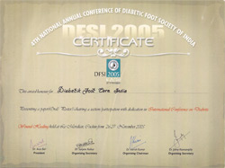 DiabetikFoot Care India Certificates
